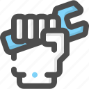 construction, hand, labour, maintenance, repair, spinner, wrench icon
