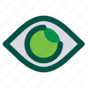 clock, eye, impression, see, view, vision, watch icon