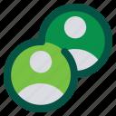 accounts, pair, partners icon