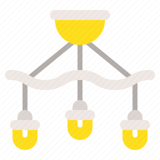 chandelier, electricity, furniture, household, lamp, light icon