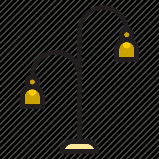 decoration, electronic, floor, furniture, indoor, lamp icon