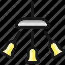 ceiling, lamp, three