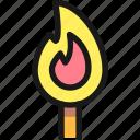 fire, match