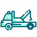 vehicle, truck, tow, tow truck, auto icon