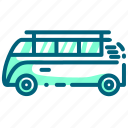 car, hippy, transportation, travel, truck, van