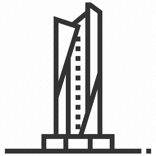 al, building, hamra, landmark, tower icon