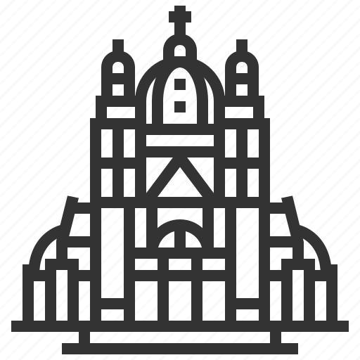basilica, landmark, sacred, sign icon
