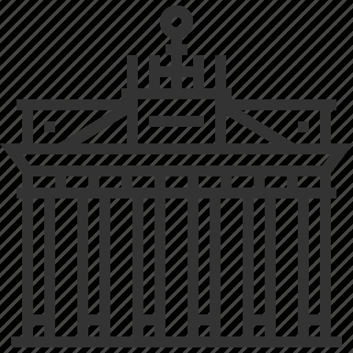 architecture, brandenburg, building, gate, landmark icon