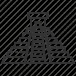 building, chichen, itza, landmark icon