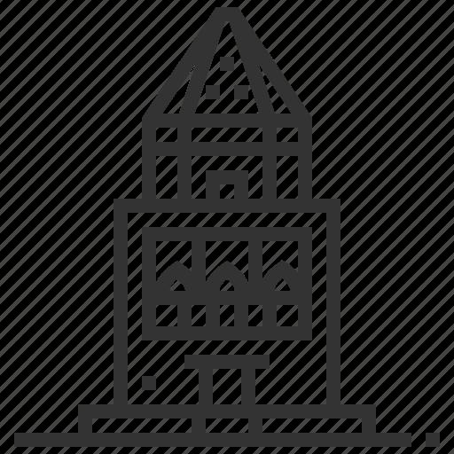 building, kunya, landmark, urgench icon