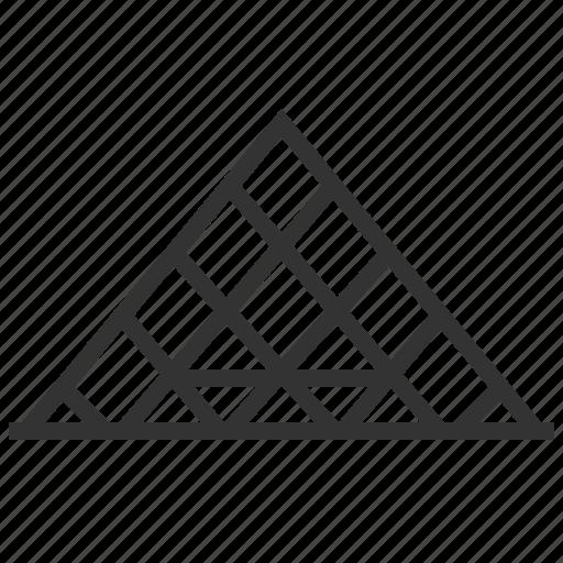 building, landmark, louvre, pyramid icon