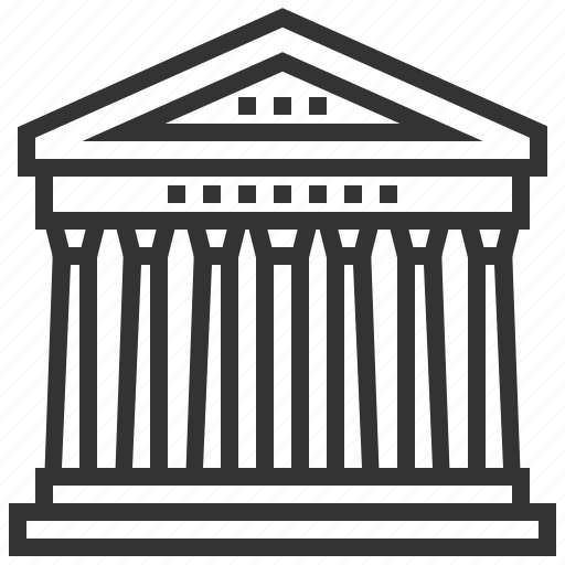 building, estate, landmark, pantheon, templet icon