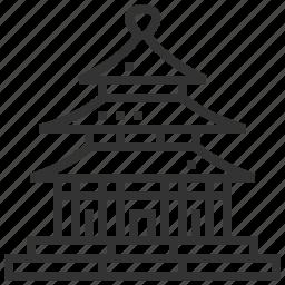 building, construction, heaven, landmark, temple icon