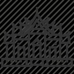 benchamabophit, building, landmark, temple, wat icon