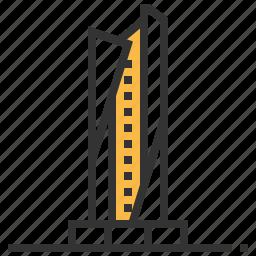 al, architecture, building, hamra, landmark, tower icon