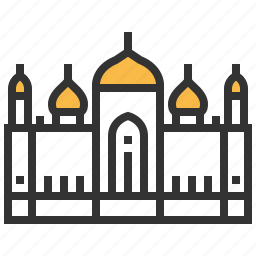 architecture, badshahi, building, landmark, mosque icon