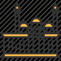 architecture, bibi, building, heybat, landmark, mosque icon