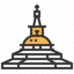 boudhanath, building, landmark, travel icon