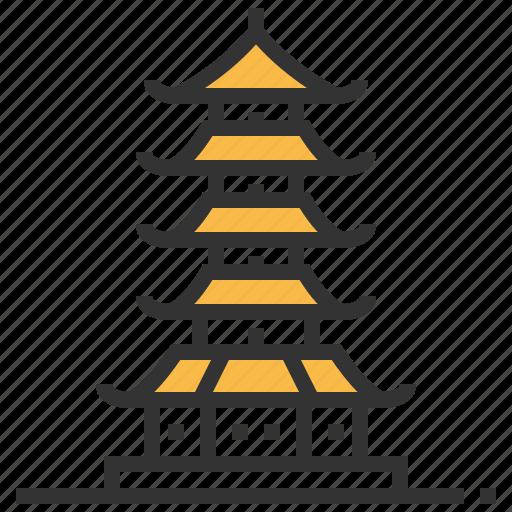ancient, building, china, chinese, landmark, pagoda icon