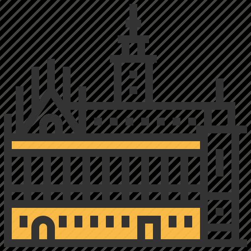 architecture, building, landmark, middelburg, stadhuis icon