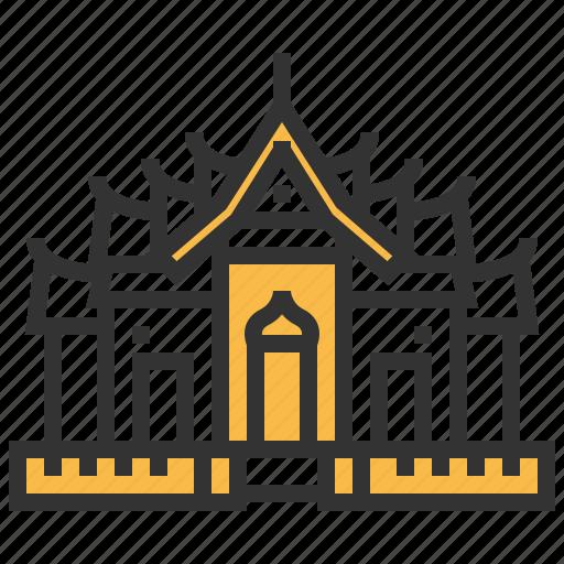architecture, benchamabophit, buddhism, building, landmark, wat icon