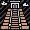 ancient, chichen, itza, maya, pyramid