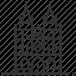 building, burgos, cathedral, estate, landmark icon