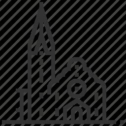 building, christ, church, landmark icon