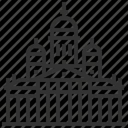 building, helsinki, landmark, senate, square icon