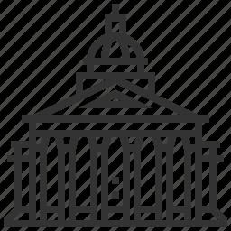 building, estate, landmark, pantheon, property icon