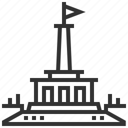 bratislava, building, landmark, memorial, slavin icon