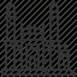 building, landmark, mosque, pir, taza icon