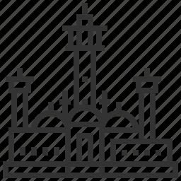 landmark, location, senegal, touba, travel icon