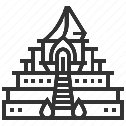 chedi, landmark, luang, temple, thailand, travel, wat icon