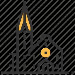 architecture, building, christ, church, landmark icon