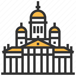 building, helsinki, landmark, senate, square icon