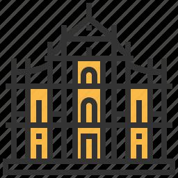 building, cathedral, christian, landmark, macau, pauls, temple icon