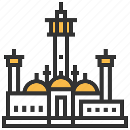 building, landmark, senegal, touba icon