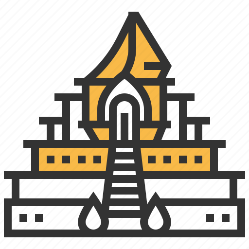 buddhism, building, chedi, landmark, luang, thailand, wat icon