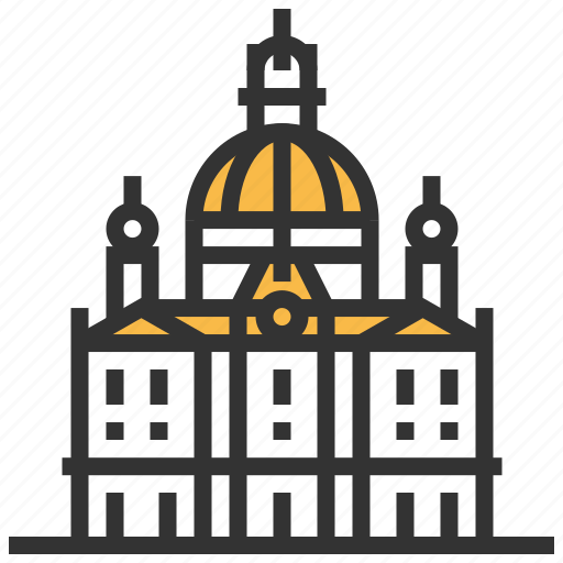 architecture, building, dresden, frauenkirche, landmark icon
