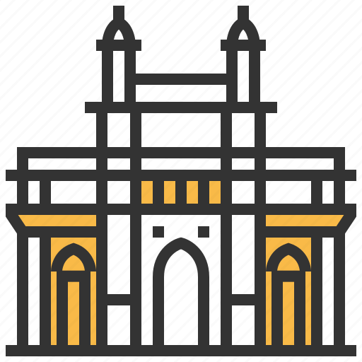 building, gateway, india, landmark, mumbai icon
