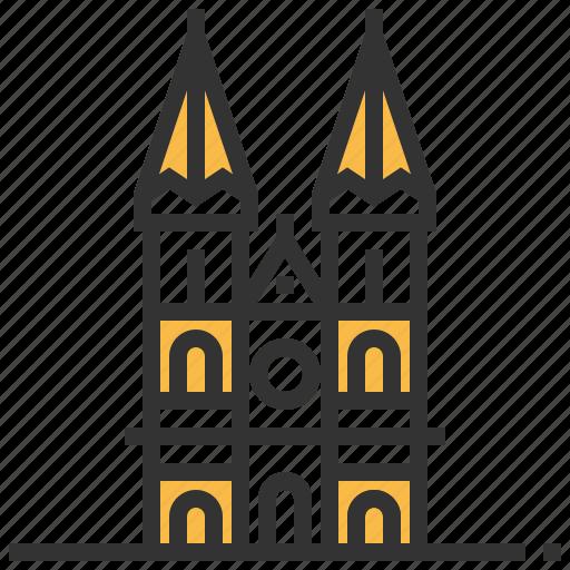 building, heuvelse, kerk, landmark, netherlands, tilburg icon