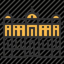architecture, building, landmark, museum, national, serbia icon