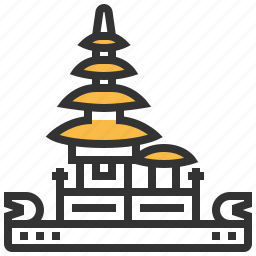 architecture, bratan, building, danu, landmark, pura, ulun icon