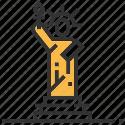 building, landmark, liberty, statue icon