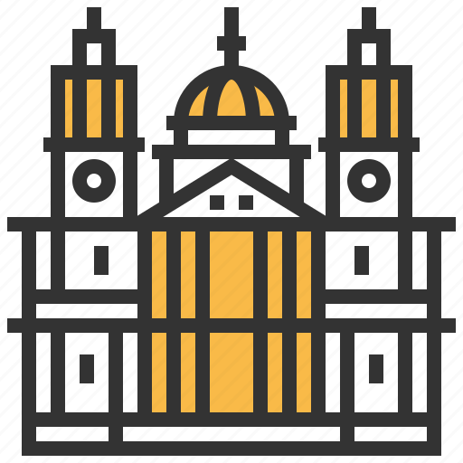 architecture, building, cathedral, landmark, pauls, st icon