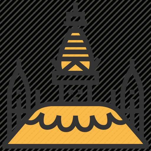 architecture, building, landmark, swayambhunath icon