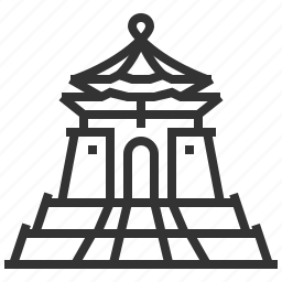 building, chiang, hall, kai, landmark, memorial, shek icon