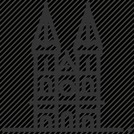 heuvelse, kerk, landmark, netherlands, tilburg icon