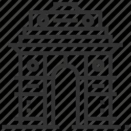 building, gate, india, landmark icon